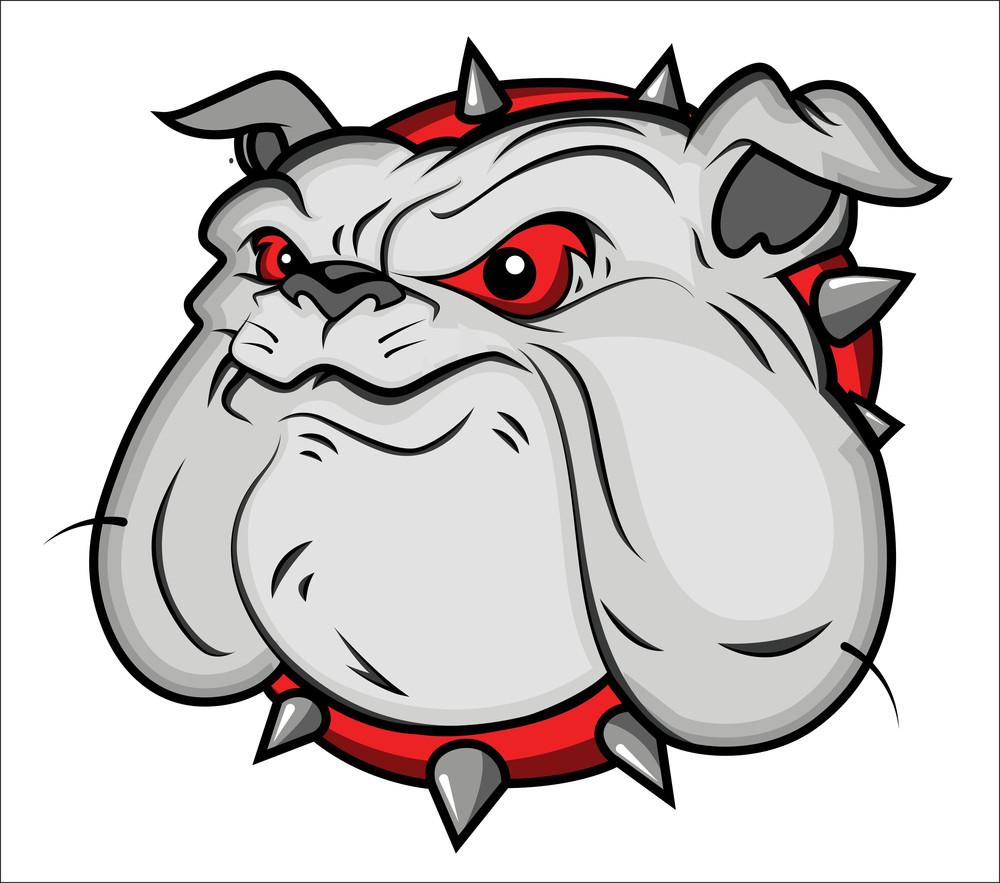 Bulldog Mascot Vector Illustartion