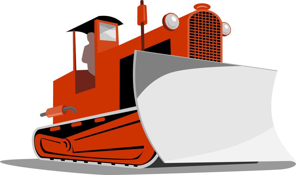 Bulldozer Mechanical Digger Tractor