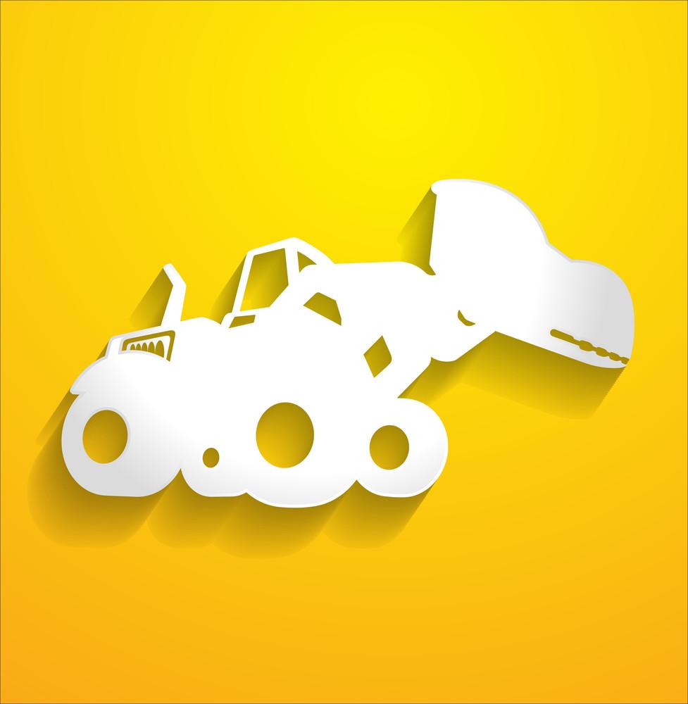Bulldozer Vector Shape