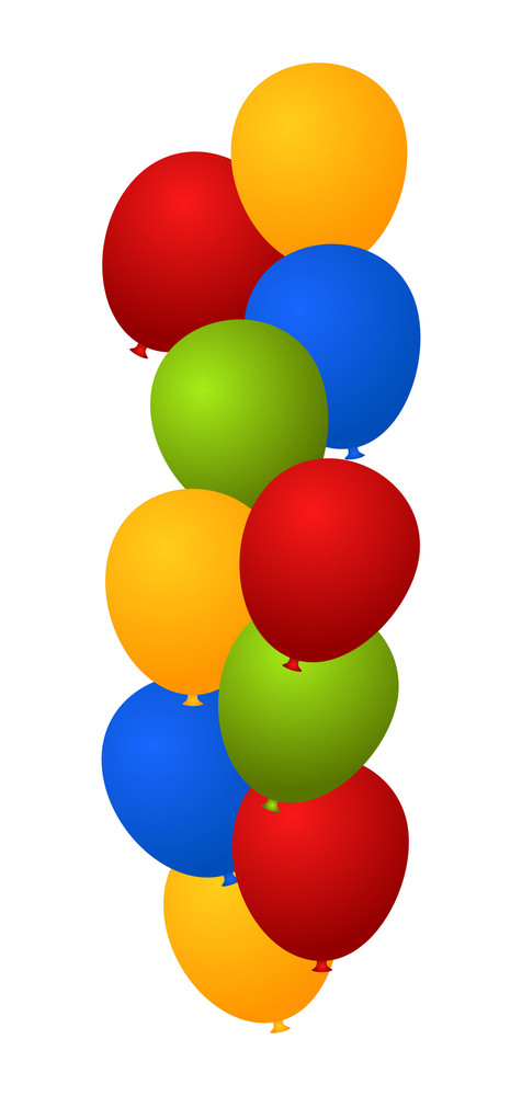 Bunch Of Colored Balloons Backdrop