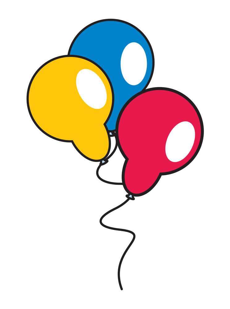 Bunch Of Colorful Retro Balloons
