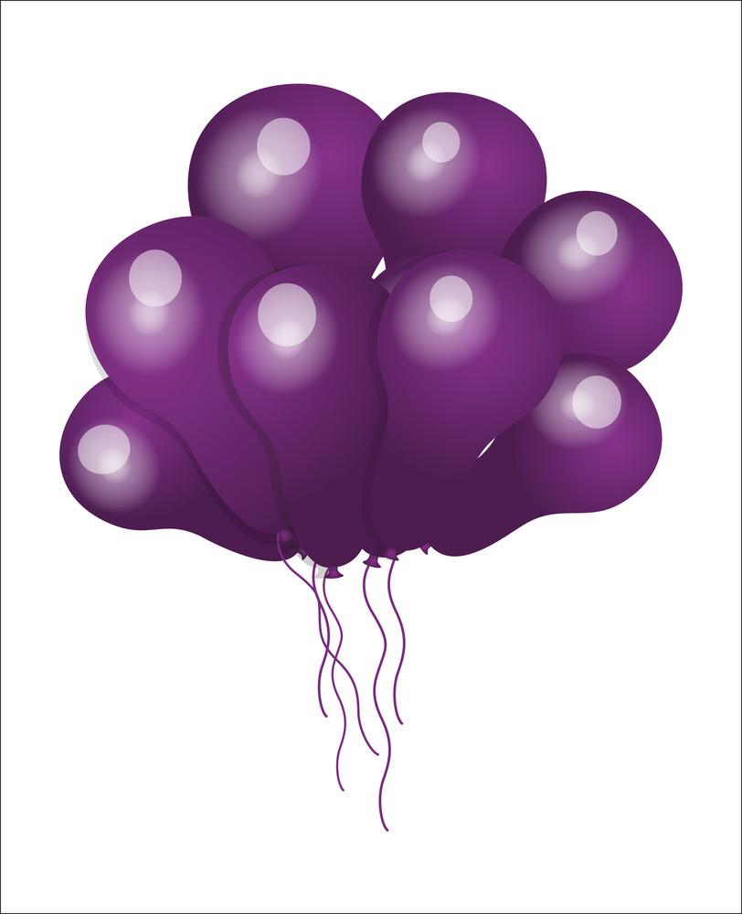 Bunch Of Purple Balloons