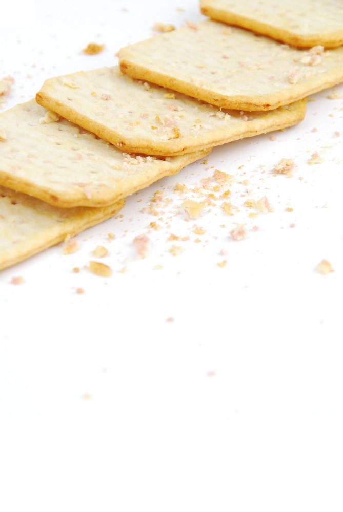 Bunch Of Rectangular Cheese Crackers
