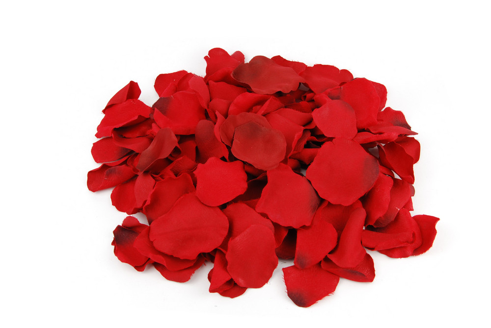Bunch Of Rose Petals For Valentine's Day