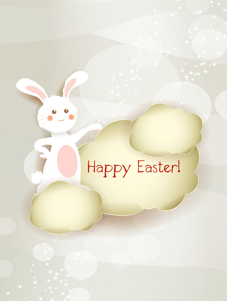 Bunny With Frame Vector Illustration