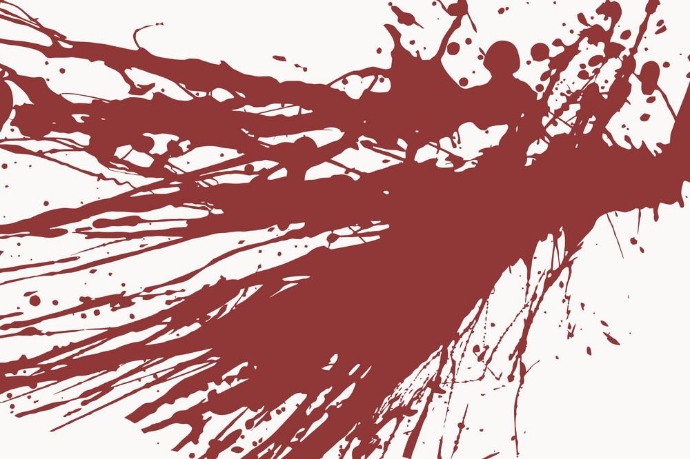 Burgundy Ink Splash