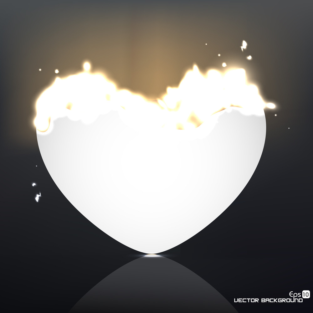 Burning Heart. Vector Illustration A Abstract Background