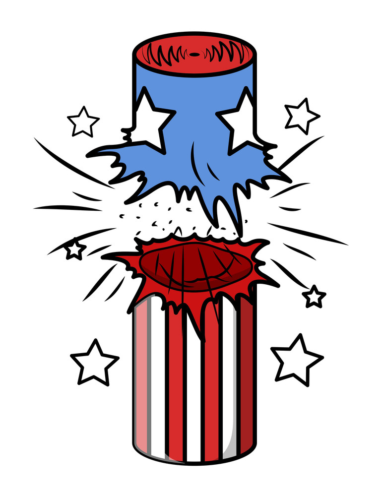 Bursted 4th Of July Cracker Vector