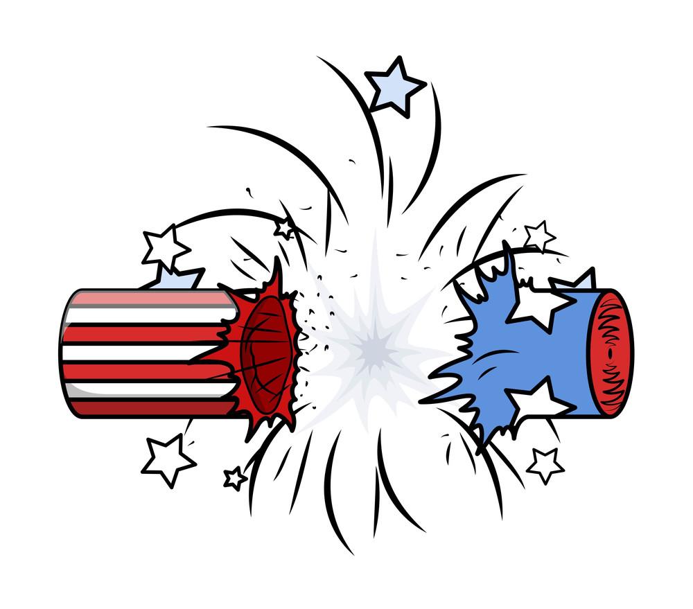 Bursted Cracker 4th Of July Celebration