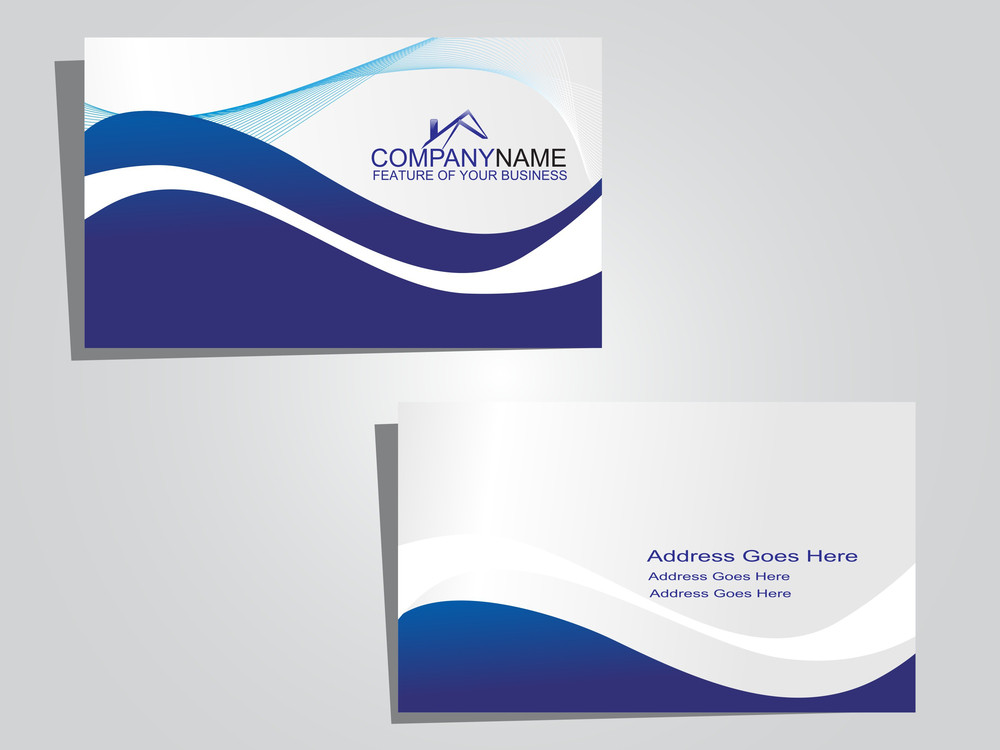 Business Card With Blue Wave In Background Royalty-Free Stock Image ...