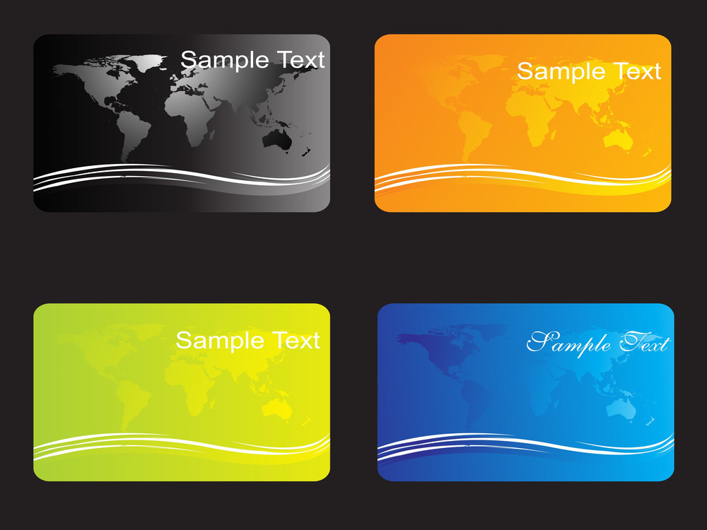 Business Card With Map In Background Royalty-Free Stock Image ...