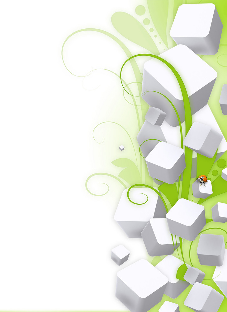 Business Cubes Floral Background