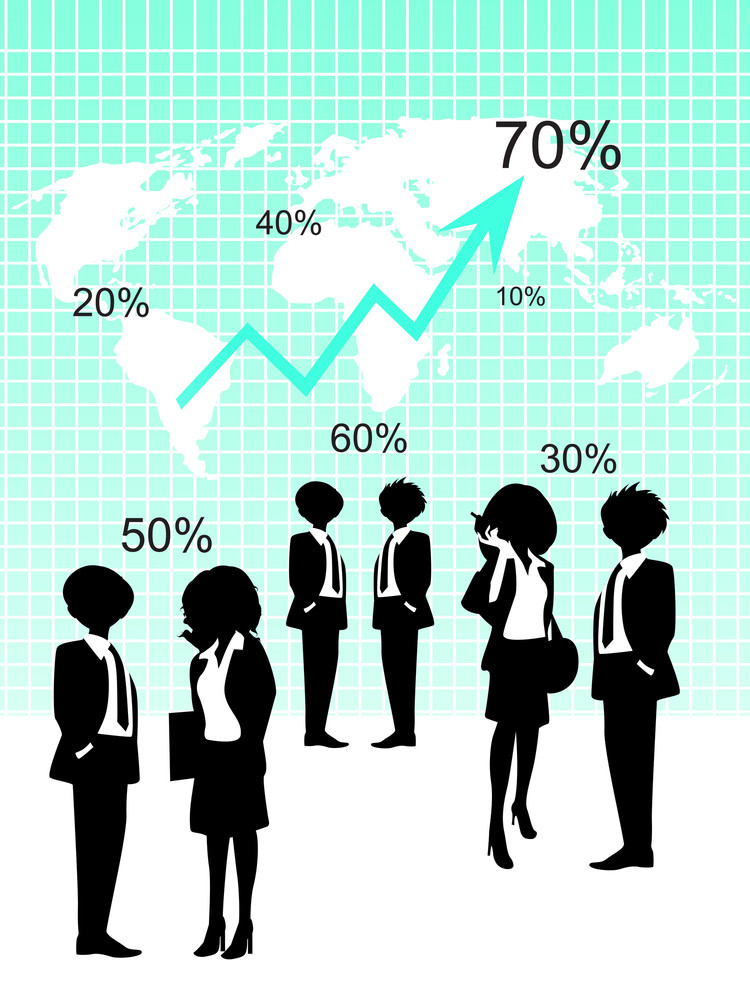 Business Growth Background With Business People