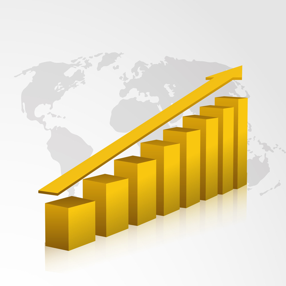 Business Growth Background.