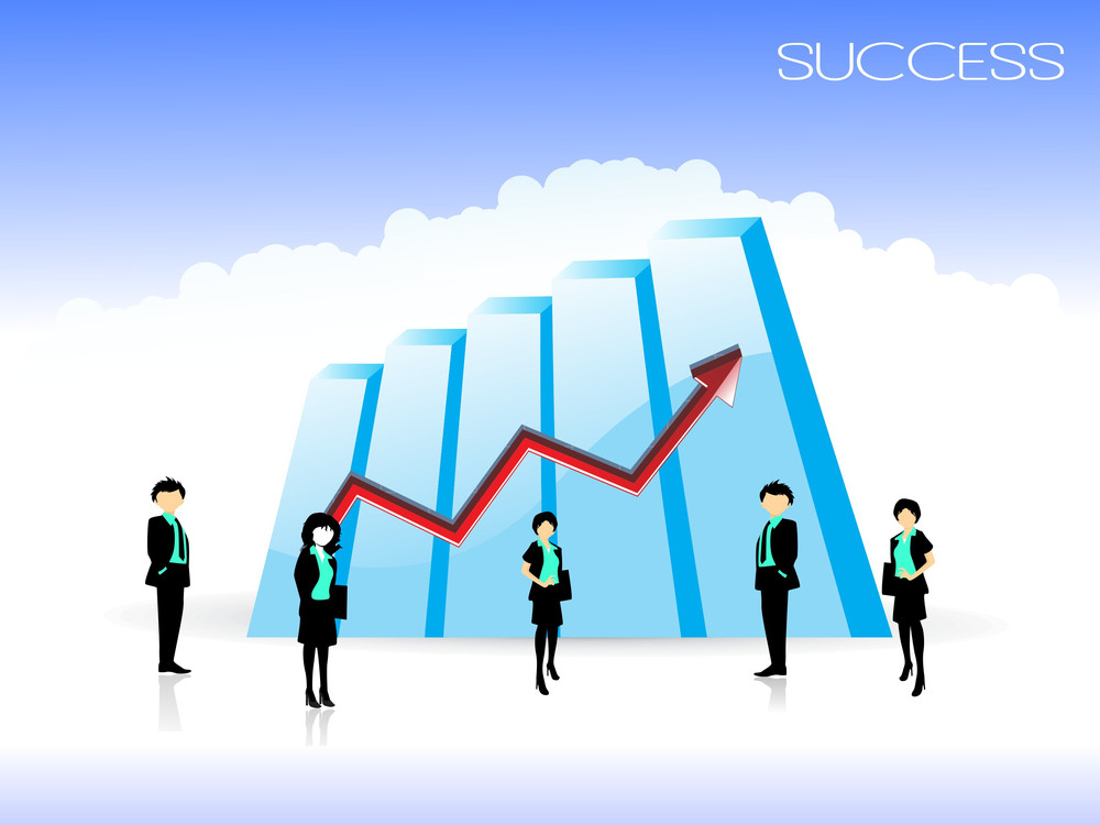 Business Growth With Business People
