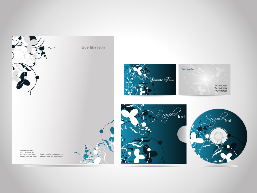 Business Kit Design For Your Project. Vector Illustration. [ Series - 2 ]