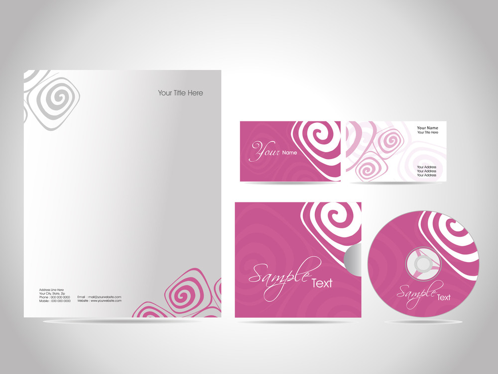 Business Kit Design For Your Project. Vector Illustration.