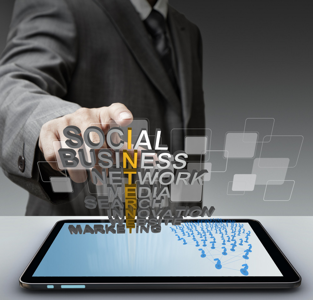Business Man Hand Touch 3d Mettalic Internet Concept