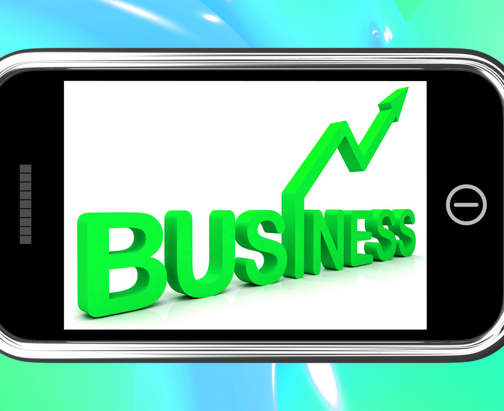 Business On Smartphone Shows Increasing Sales