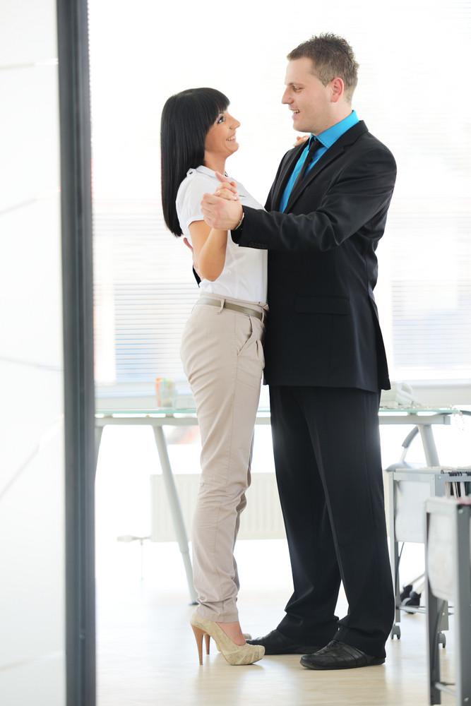 Business people having dance at break time