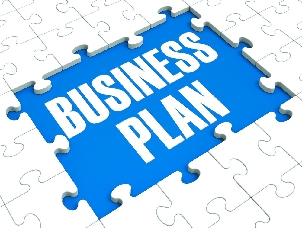 Business Plan Puzzle Shows Business Strategies
