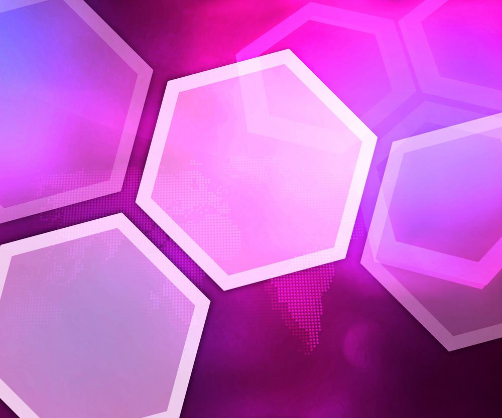 Business Violet Background Hexagon