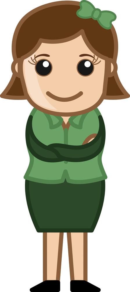 Business Woman - Business Cartoon Character Vector