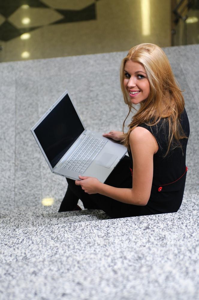 Business woman laptop