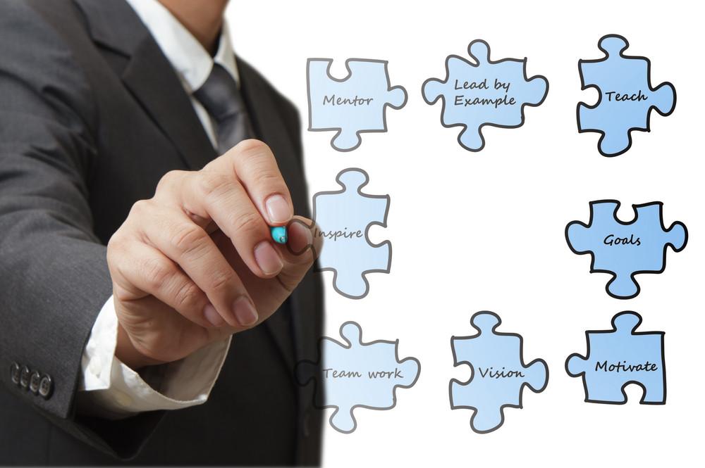 Businessman Draws Puzzles