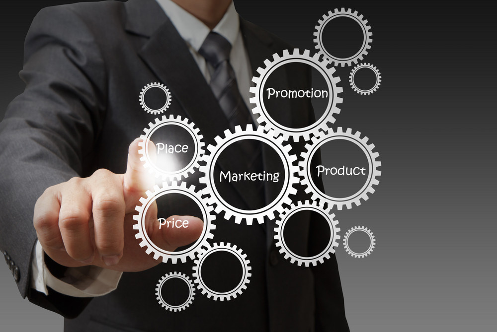 Businessman Hand Draws Target Customers Diagram