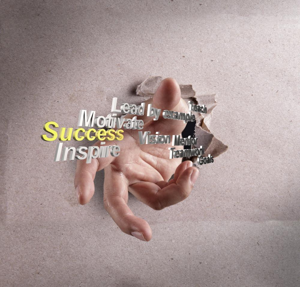 Businessman Hand Reach Success