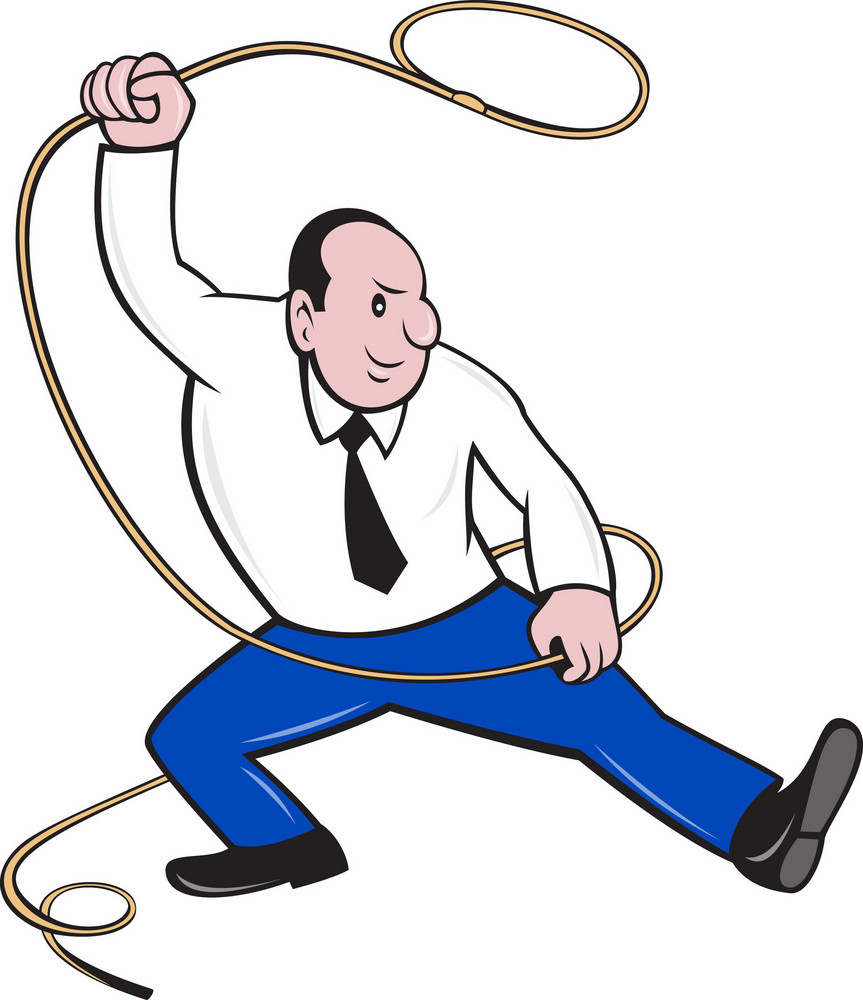 Businessman Holding Lasso Rope