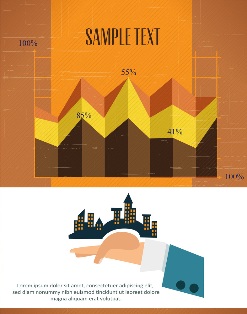 Businessman Infographic Charts (editable Text)