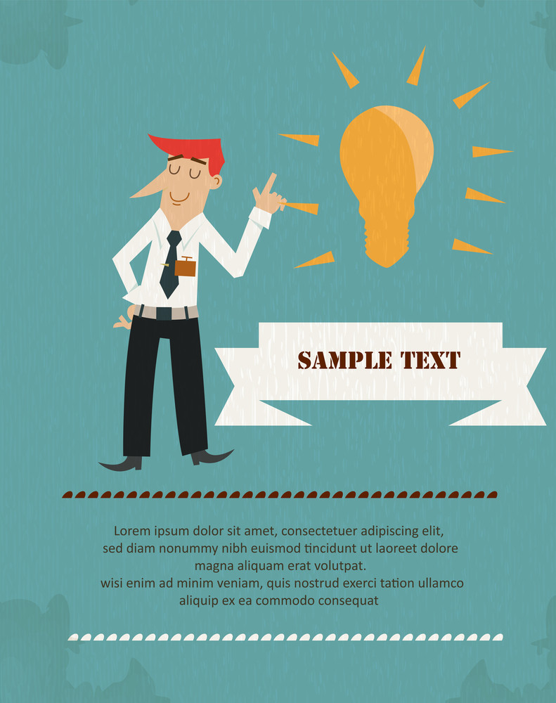 Businessman Infographic (editable Text)