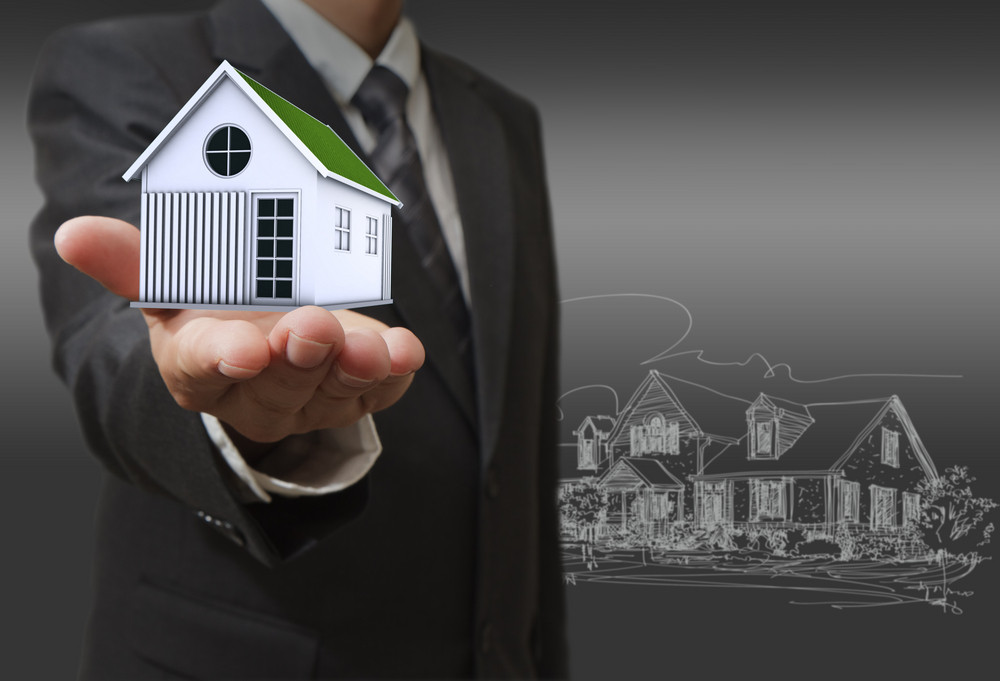 Businessman Shows A House