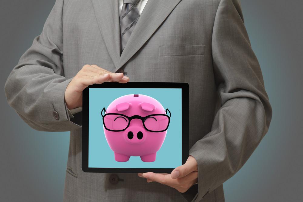 Businessman Shows Success Of Business