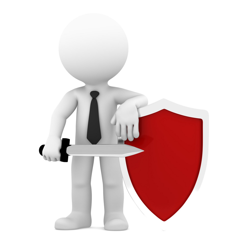 Businessman With Shield.