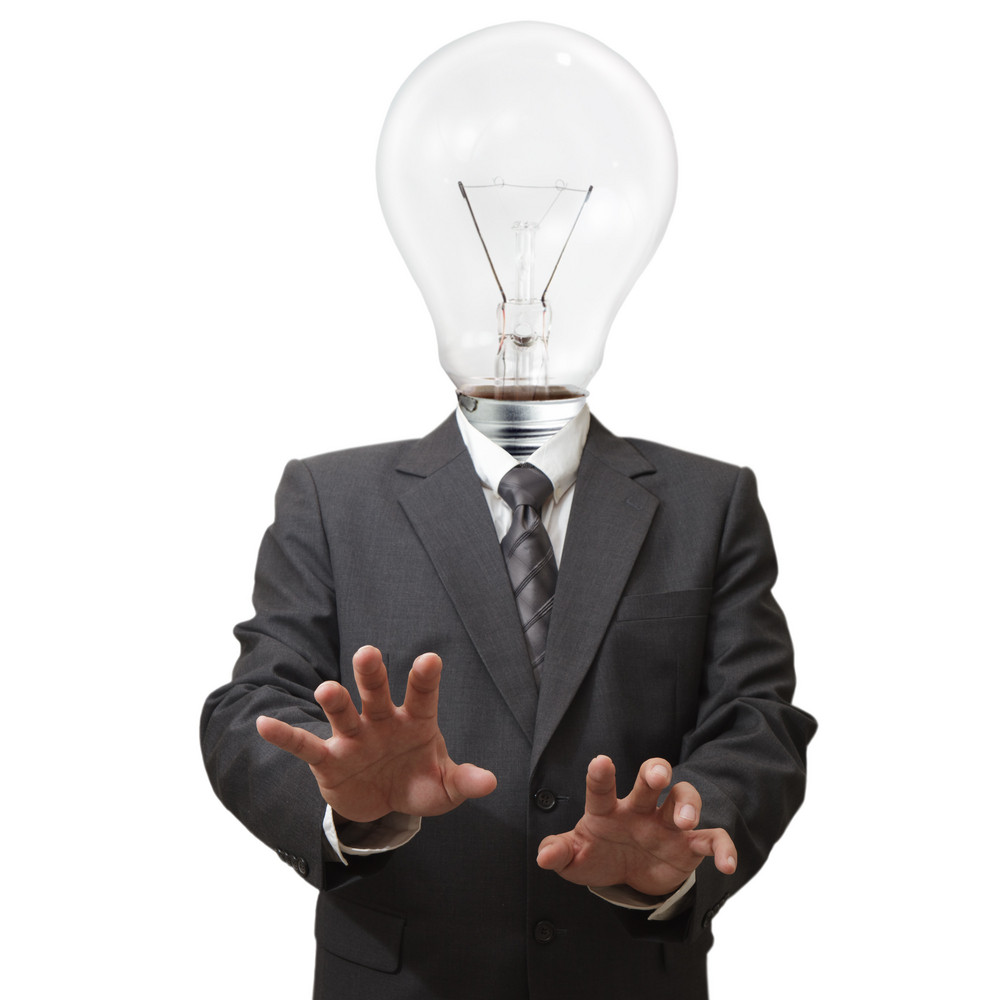 Businessman,light Bulb Head