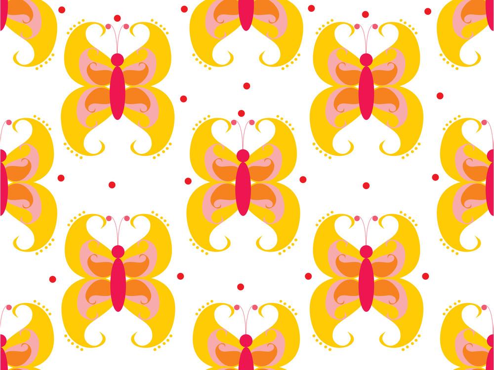 Butterfly Pattern Backgorund