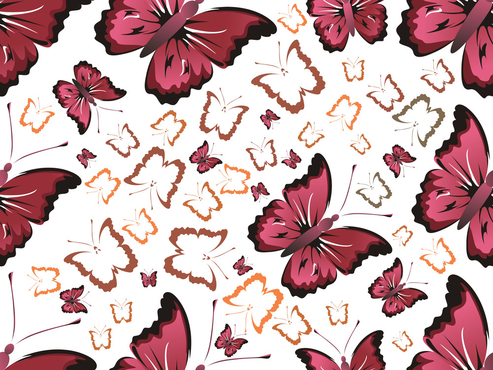 Butterfly Pattern Backgorund