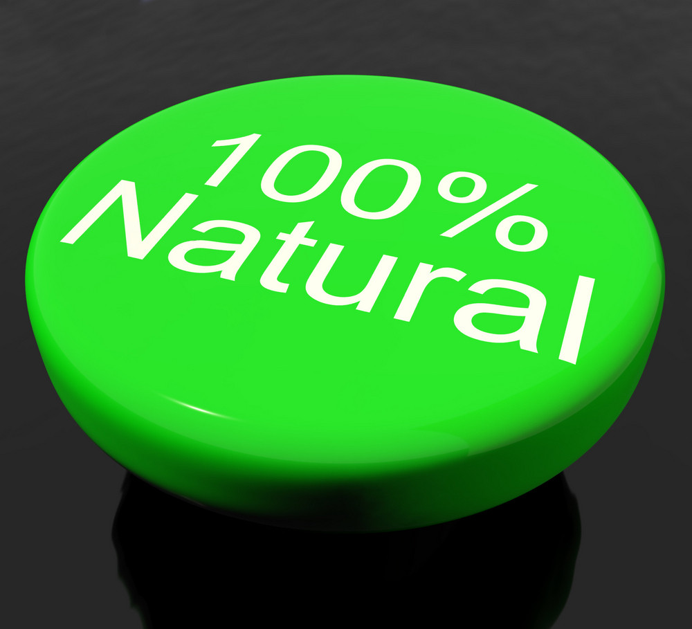 Button 100% Natural Organic Or Environmental