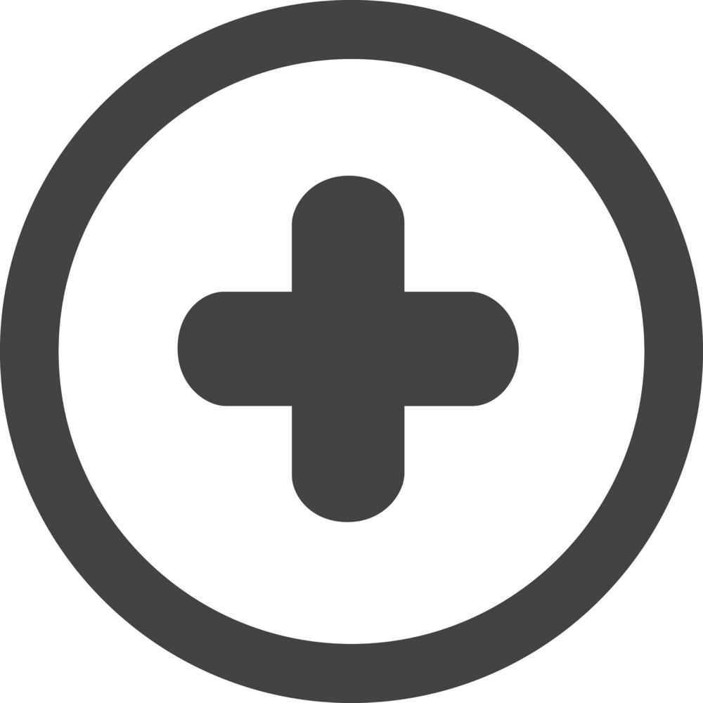 Button Add 1 Glyph Icon