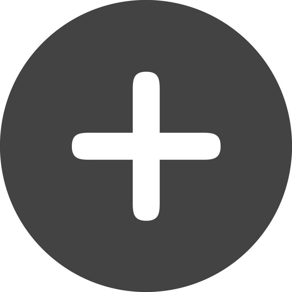 Button Add 4 Glyph Icon