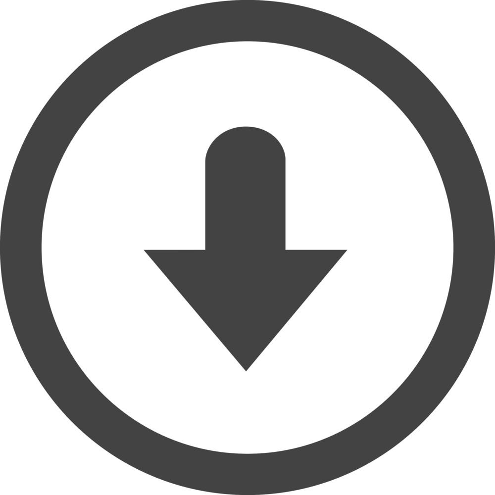 Button Down 2 Glyph Icon