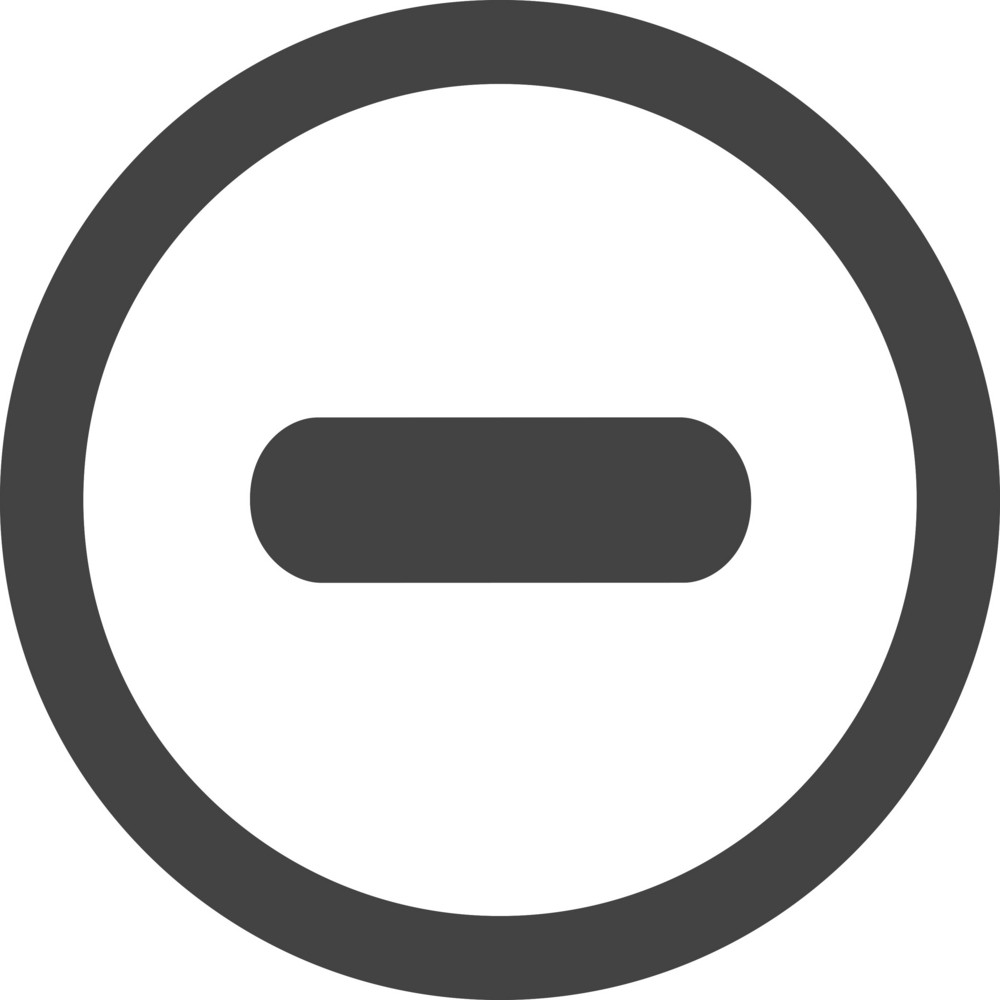 Button Remove 2 Glyph Icon