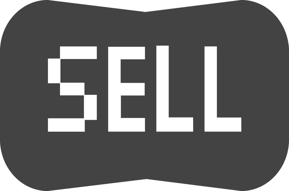 Button Sell Glyph Icon