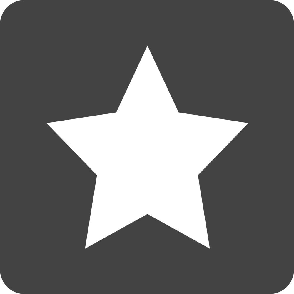 Button Star 1 Glyph Icon