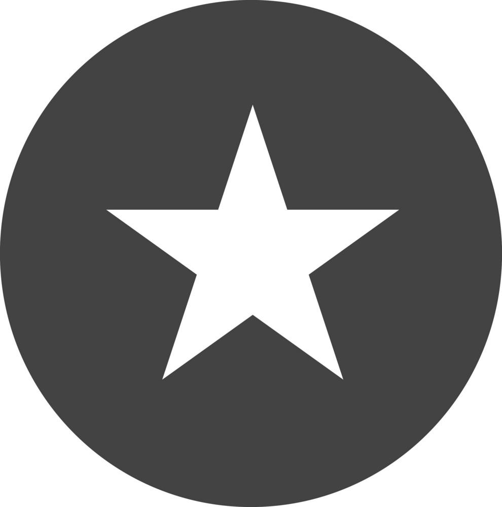 Button Star Glyph Icon