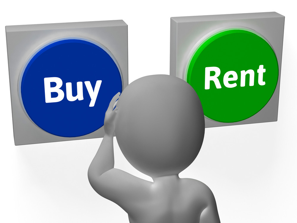 Buy Rent Buttons Show Property For Sale Or Lease