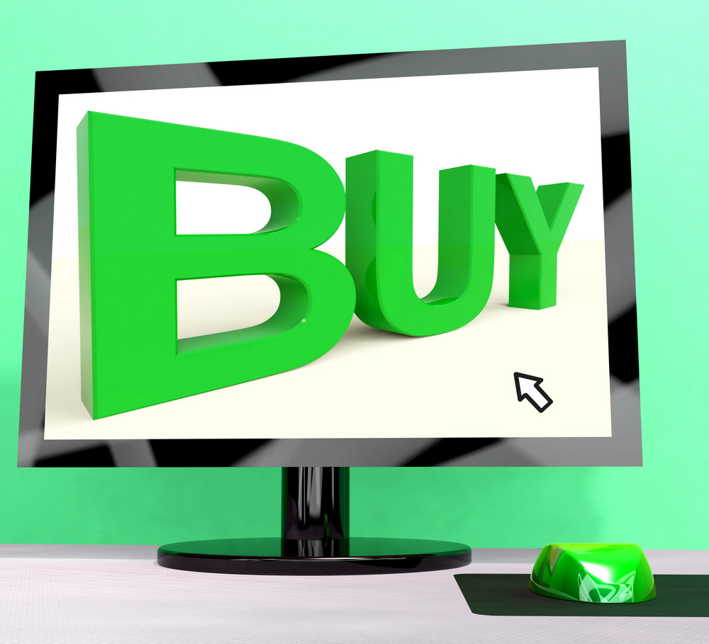 Buy Word On Computer Shows Commerce Or Retail